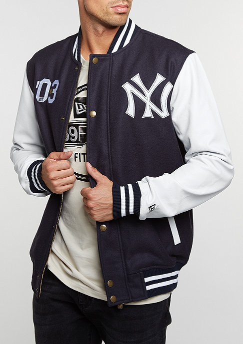 New Era Cooperstown Letterman Jacket MLB New York Yankees navy
