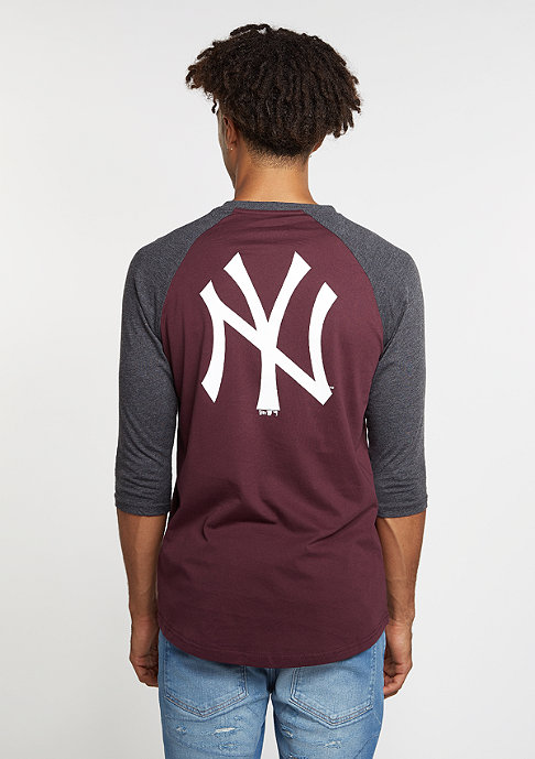 New Era Raglan MLB New York Yankees maroon
