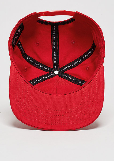 Grimey Snapback-Cap Natural red