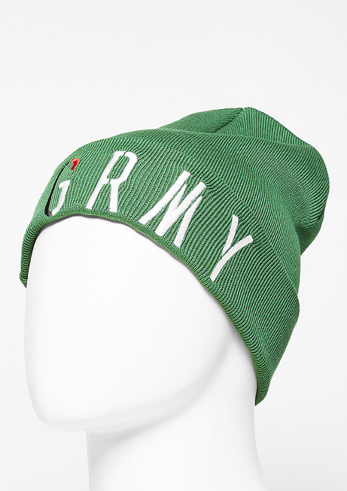 Grimey Beanie Nuff Respect green