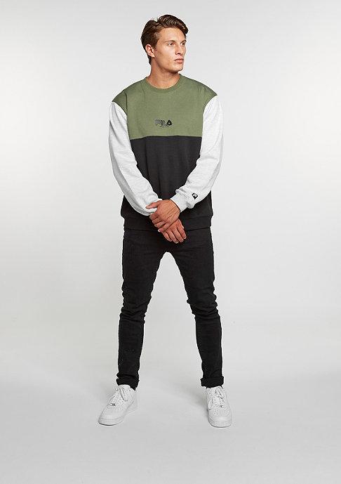 Fila Sweatshirt Bravo black/olive/mid grey melange