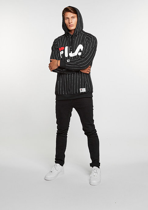 Fila Hooded sweatshirt Kreed black pinstripe