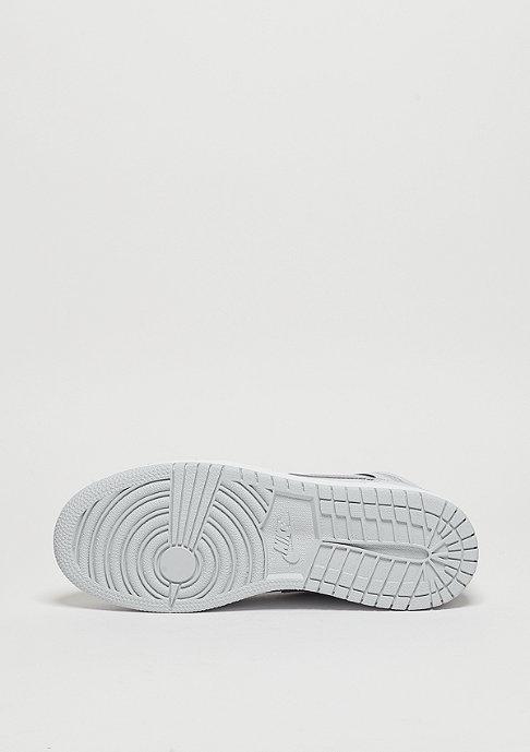 JORDAN Basketballschuh Air Jordan 1 Mid GS pure platinum/white/metallic silver