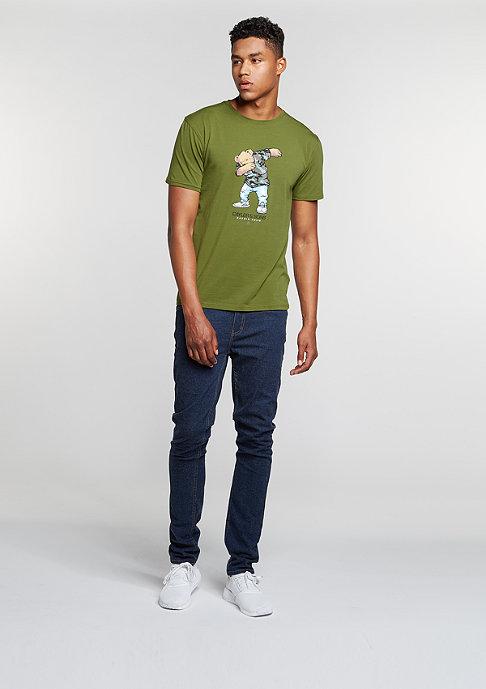 Cayler & Sons T-Shirt Crew Dabbin olive/mc