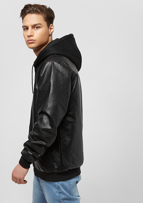 Pelle Pelle Übergangsjacke Mix-Up Hooded pitchblack