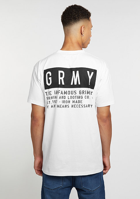 Grimey T-Shirt Bowels Of The D white