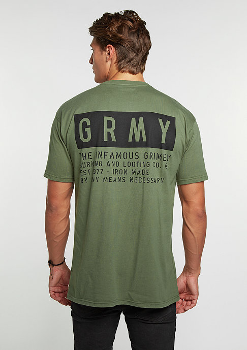 Grimey T-Shirt Bowels Of The D millitary green