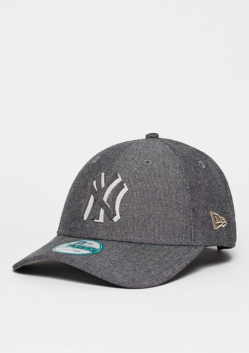 New Era Strapback-Cap Felt Chambray MLB New York Yankees black