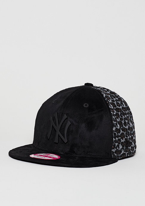 New Era Snapback-Cap Leo Mesh MLB New York Yankees black/leopard