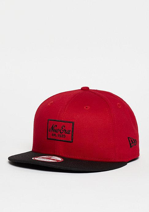 New Era Snapback-Cap Patched Prime scarlet/black