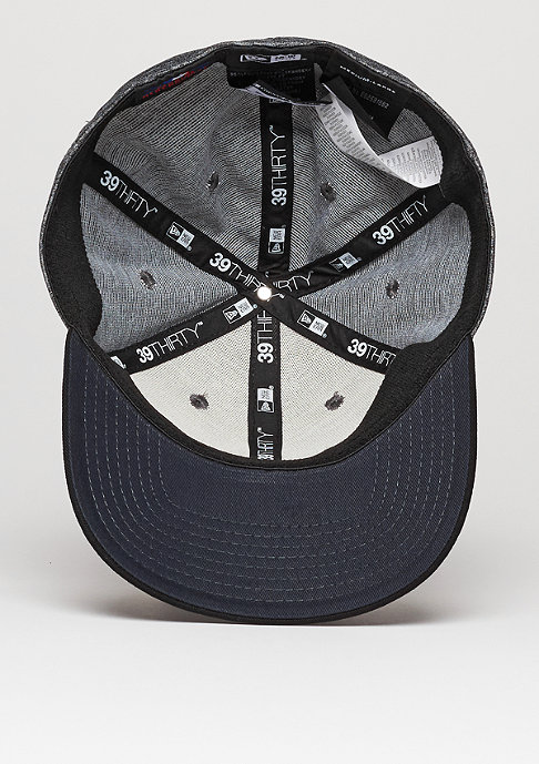 New Era Fitted-Cap Flecked MLB New York Yankees grey/black/official