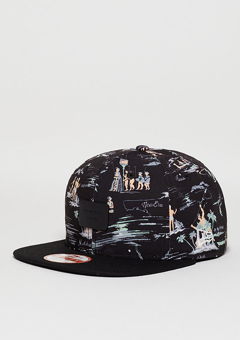 New Era Snapback-Cap Offshore Crown Patch black/black