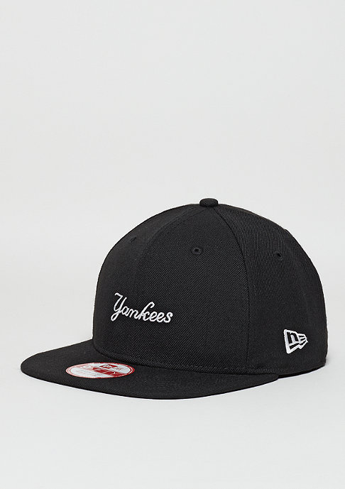 New Era Snapback-Cap 9Fifty Wool Wordmark MLB New York Yankees black/optic white