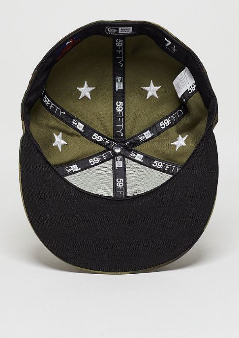 New Era Fitted-Cap 59Fifty Star Crown MLB New York Yankees woodland camo