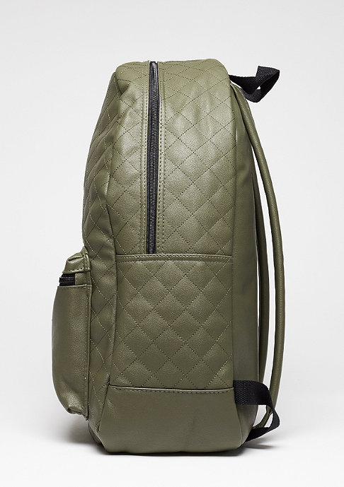 Urban Classics Diamond Quilt Leather Imitation olive