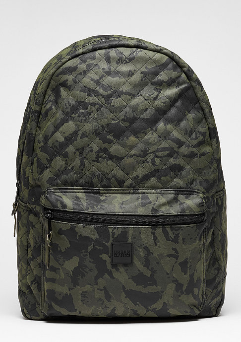 Urban Classics Rucksack Diamond Quilt Leather Imitation camo