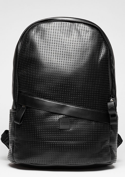 Urban Classics Perforated Leather Imitation black