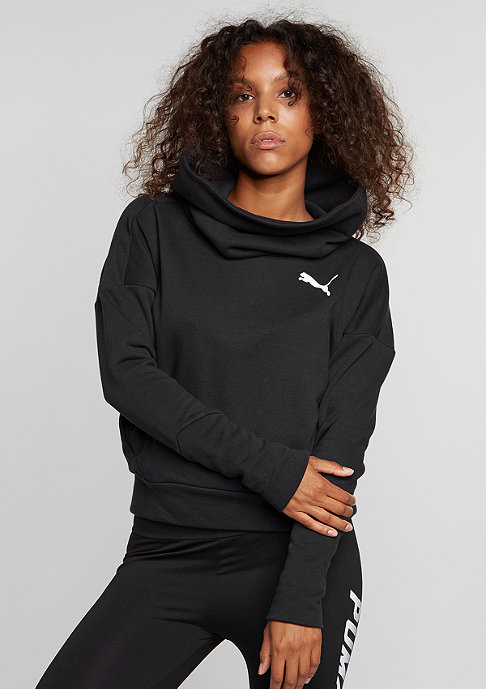 Puma Sweatshirt Elevated Rollneck cotton black