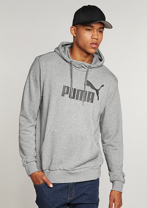 Puma Hooded-Sweatshirt ESS No. 1 Logo medium grey heather