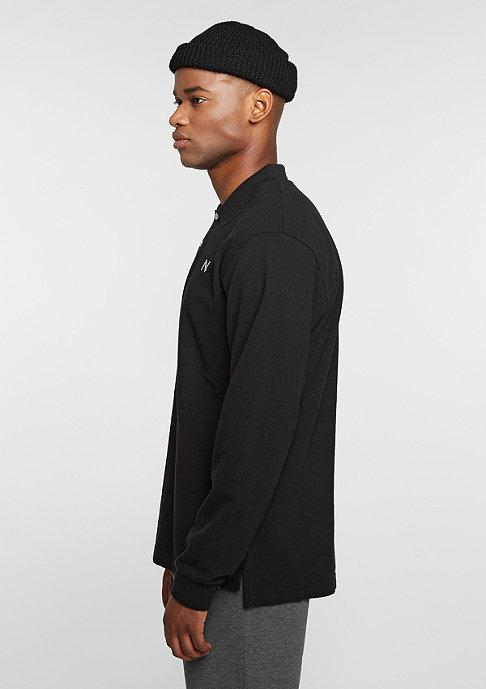 New Black Longsleeve Polo black