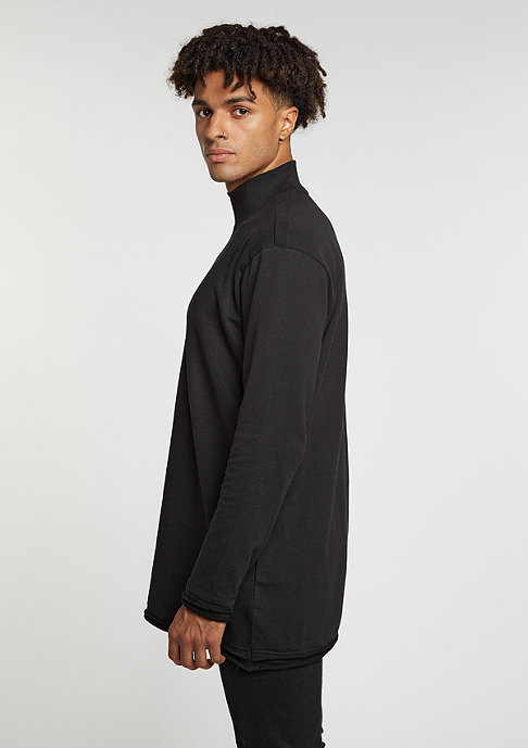 Urban Classics Long Open Edge Turtleneck black