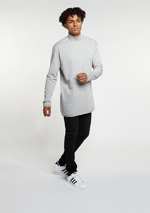 Urban Classics Sweatshirt Long Open Edge Turtleneck grey