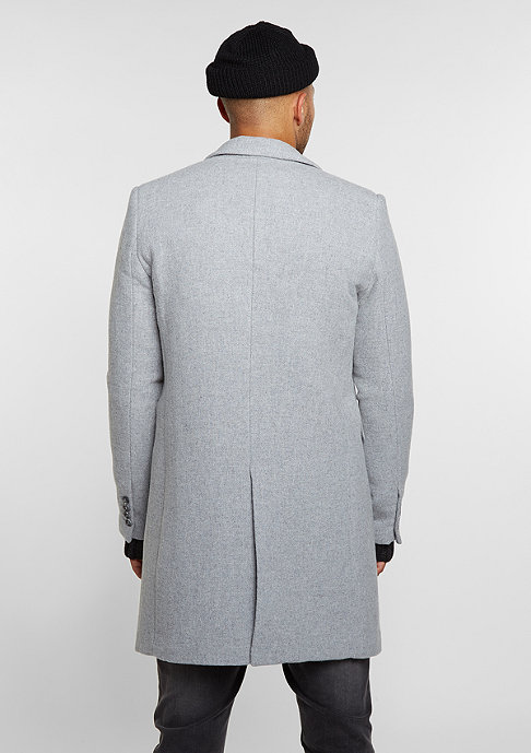 Black Kaviar Mantel Coat Kraster Grey