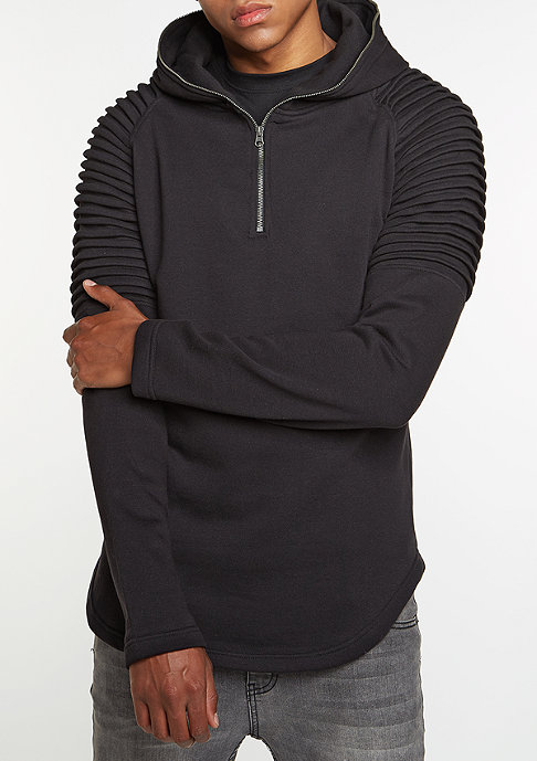 Urban Classics Hooded-Sweatshirt Pleat Sleeves Terry black