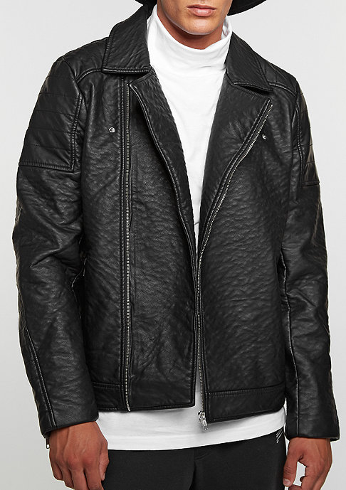 Urban Classics Übergangsjacke Leather Imitation Biker black