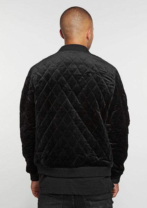 Urban Classics Übergangsjacke Diamond Quilt Velvet black