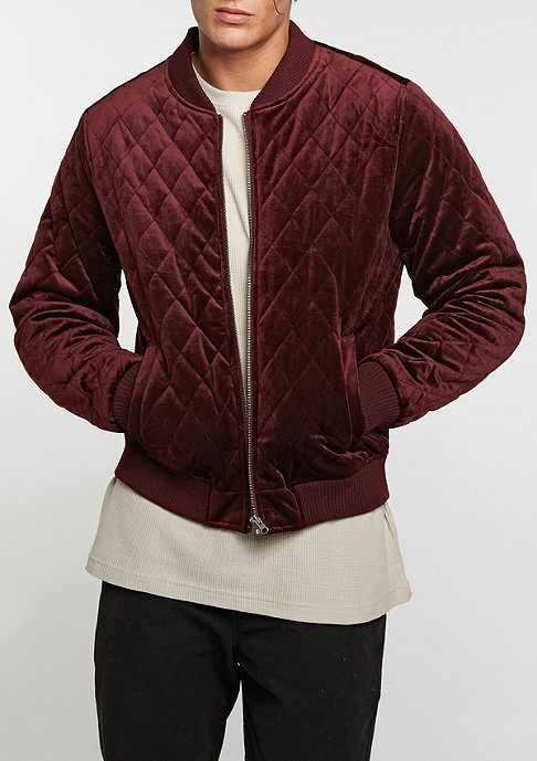 Urban Classics Übergangsjacke Diamond Quilt Velvet burgundy