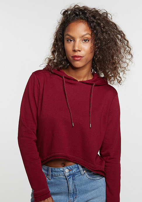 Urban Classics Cropped Terry burgundy