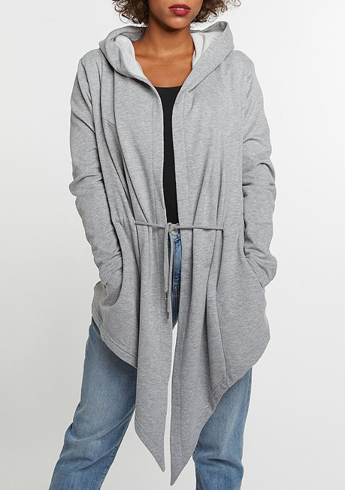 Urban Classics Strickpullover Hooded Cardigan grey