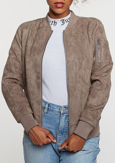 Urban Classics Übergangsjacke Imitation Suede Bomber taupe