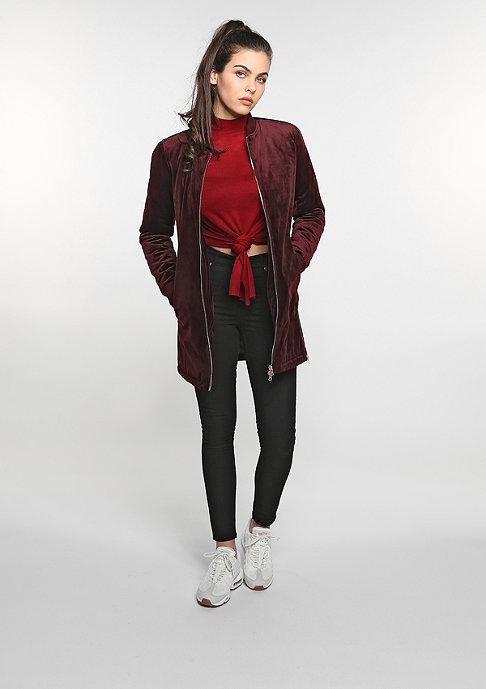 Urban Classics Übergangsjacke Long Velvet burgundy
