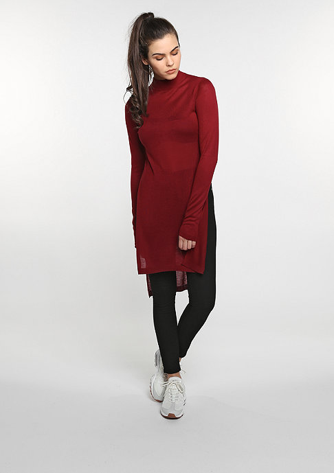 Urban Classics Sweatshirt Fine Knit Turtleneck Long burgundy