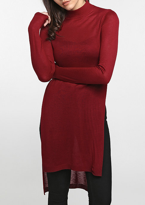 Urban Classics Fine Knit Turtleneck Long burgundy