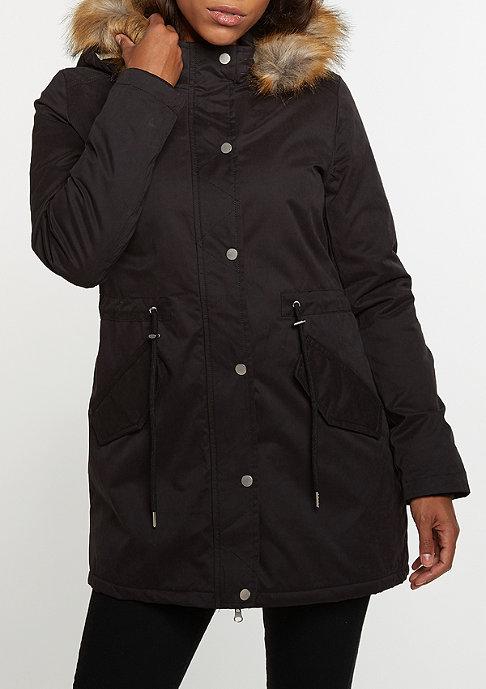 Urban Classics Winterjacke Sherpa Lined Peached Parka black