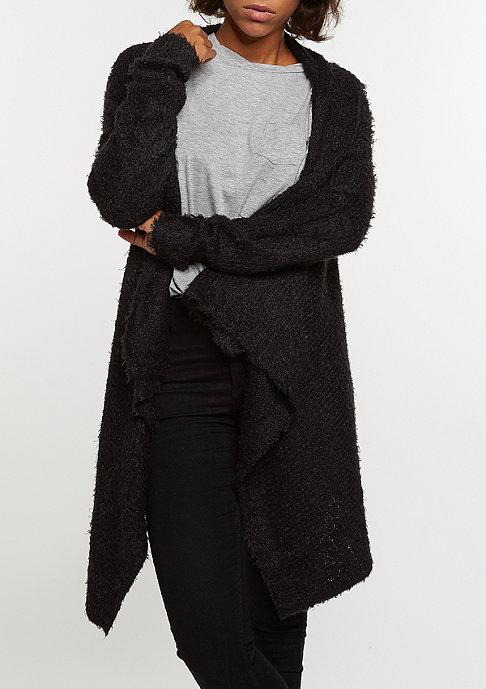 Urban Classics Strickjacke Knit Feather Cardigan black/black