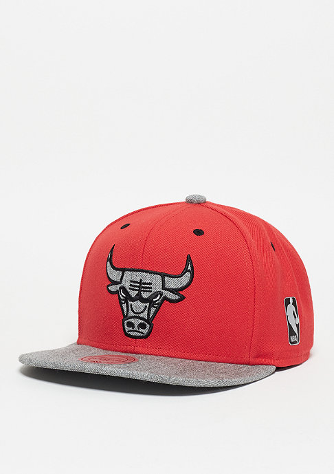 Mitchell & Ness Snapback-Cap Greytist NBA Chicago Bulls red/grey