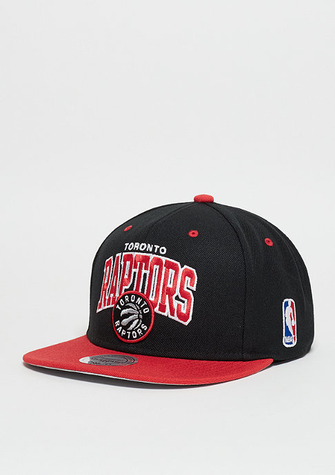 Mitchell & Ness Snapback-Cap Team Arch NBA Toronto Raptors black/red