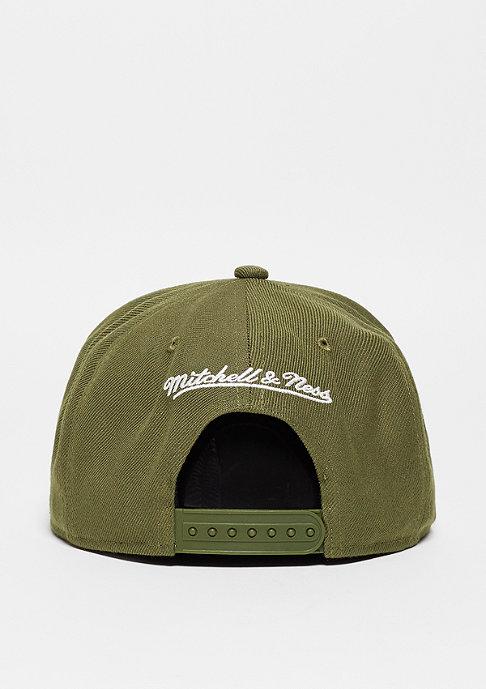 Mitchell & Ness Snapback-Cap Pinscript olive