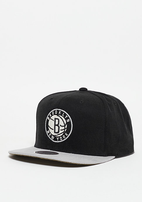 Mitchell & Ness Snapback-Cap Sandy NBA Brooklyn Nets black/grey