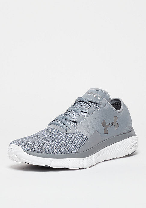 Under Armour Laufschuh Speedform Fortis 2 steel/white/metallic silver