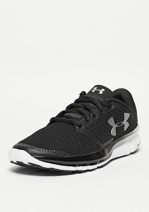 Under Armour Laufschuh Charged Reckless black/white/metallic pewter