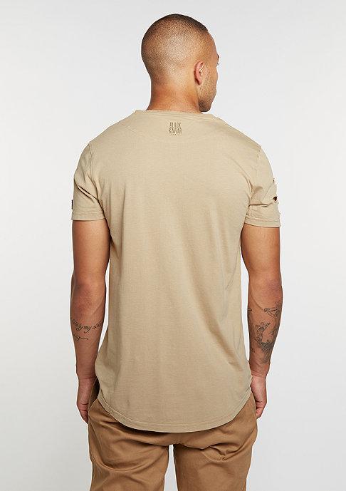Black Kaviar T-Shirt Kraged Beige