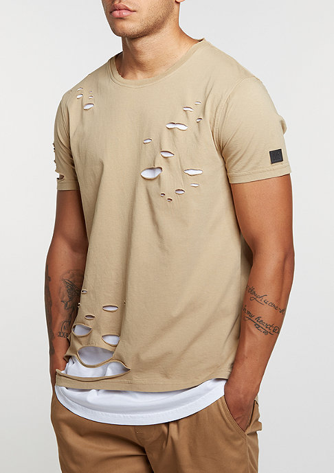 Black Kaviar T-Shirt Kraged Beige