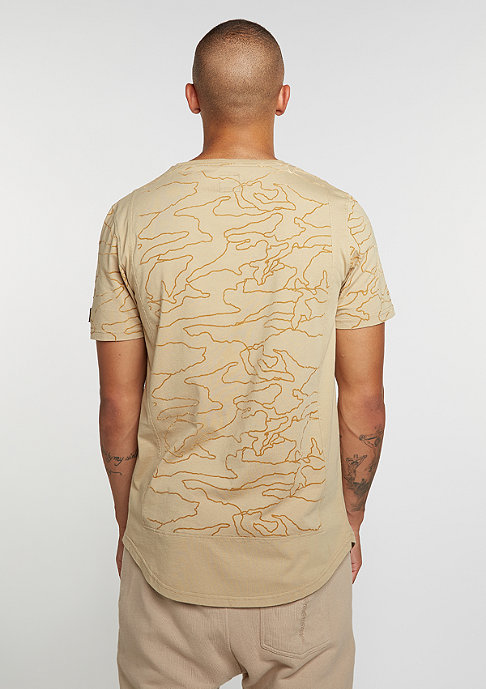 Black Kaviar T-Shirt Tee Kamo Beige