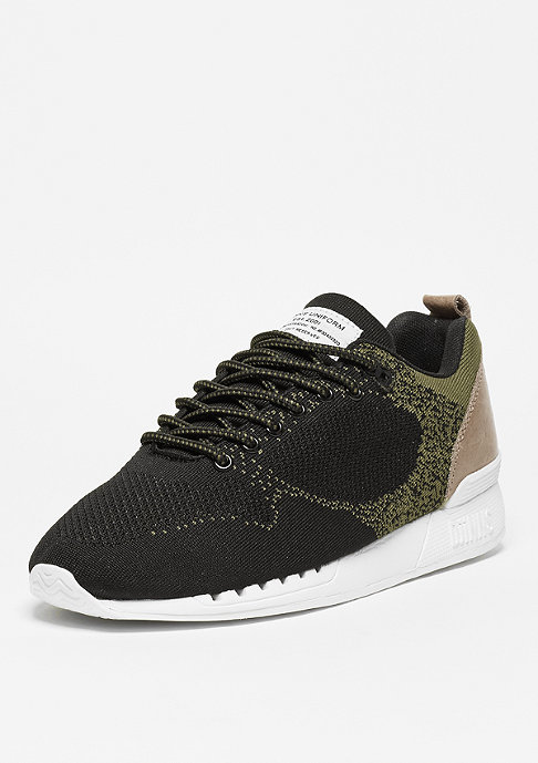Djinn's Laufschuh Easy Run Gator Knit black/sand