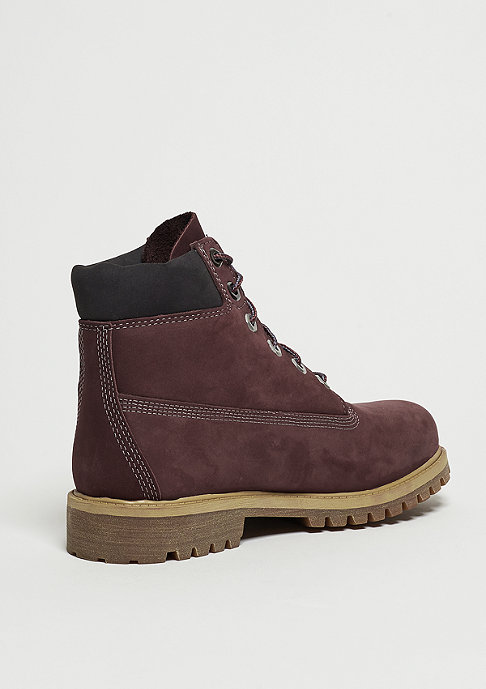 Timberland 6 inch Premium Waterproof dark red
